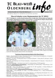 Marcel Schultze erster Regionsmeister des TC BWO - Tennisclub ...