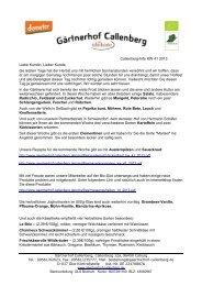 Callenberg-Info KW 41 2013 Liebe Kundin, Lieber Kunde, die ...