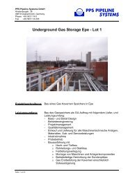 Underground Gas Storage Epe - Lot 1 - PPS Pipeline Systems GmbH