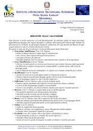 Indicatori sulla valutazione - IISS Longo - Monopoli