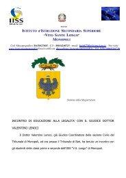 Incontro con il Giudice dott. Valentino Lenoci - IISS Longo - Monopoli