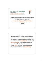 Temporäre Migration: Herausforderungen für die ... - EJSA
