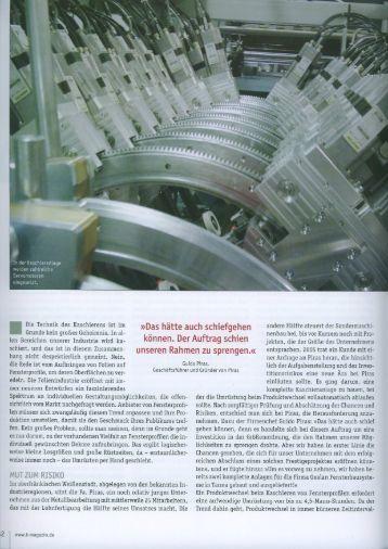 In der Kaschieranlage werden zahlreiche - PIRAS Metalltechnik