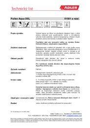 Katalogový list s technickými údaji - Adler