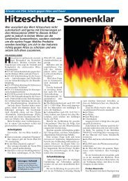Schutz gegen Hitze und Feuer Hitzeschutz - ProTherm AG