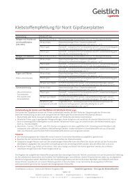 Klebstoffempfehlung für Norit Gipsfaserplatten - Shop