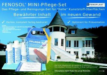 Aktionsflyer Mini-Set und Pflegeprogramm - Fenoplast Fügetechnik ...