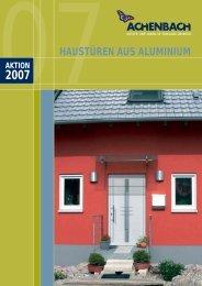haustüren aus aluminium - Achenbach Fenster und Türen GmbH