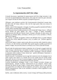 Lino Franceschini La toponomastica dell'Alto Adige - franceschini.de