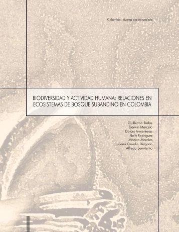 biodiversidad y actividad humana - Instituto de Investigación de ...