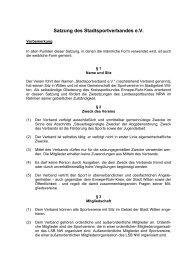 Satzung des Stadtsportverbandes e.V.