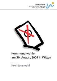Kommunalwahlen am 30. August 2009 in Witten Kreistagswahl