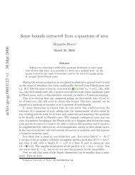 arXiv:gr-qc/0603123 v1 30 Mar 2006 Some bounds extracted from a ...