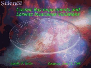 Cosmic Ray experiments and Lorentz invariance violations