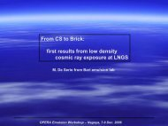 From CS to Brick: first results from low density cosmic ray exposure ...