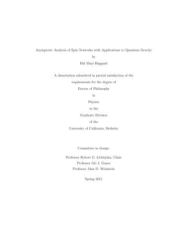 Asymptotic Analysis of Spin Networks with Applications to Quantum ...