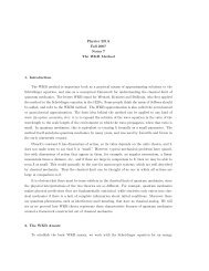 Physics 221A Fall 2007 Notes 7 The WKB Method 1. Introduction ...