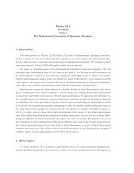 Physics 221A Fall 2010 Notes 1 The Mathematical Formalism of ...