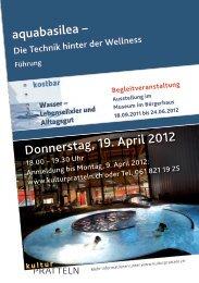 aquabasilea – Donnerstag, 19. April 2012 - kulturPRATTELN