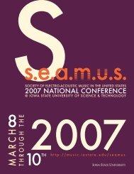 SEAMUS Prgm.indd - Iowa State University Department of Music