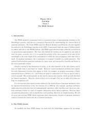 Physics 221A Fall 2010 Notes 7 The WKB Method 1. Introduction ...