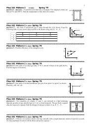 PHYS 130 Exam #2 3/26/2009