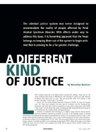 A different kind of justice - National