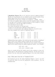 Sci.101 Fall 2009 Pre-Lab Notes 1.Significant Figures Why do we ...