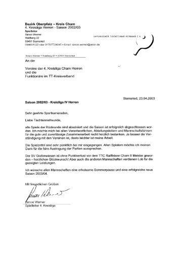 Kreisliga4 Herren - Cham
