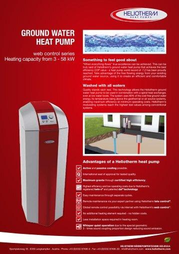 ground water heat pump - Heliotherm Wärmepumpentechnik Ges ...