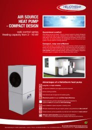 Leaflet air source heat pump compact design - Heliotherm ...
