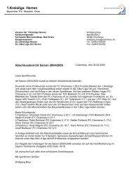 1.Kreisliga Herren - Cham