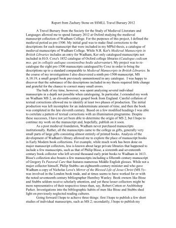 A Catalogue of the Medieval Manuscripts of ... - Medium Aevum