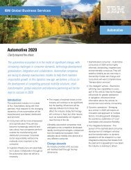 Automotive 2020: Clarity beyond the chaos - IBM