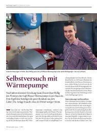 Hochschule Luzern > Selbstversuch mit Wärmepumpe