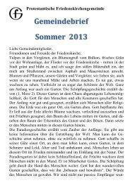 Gemeindebrief Sommer 2013 - Kirchen in und um Kaiserslautern