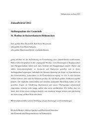 Zukunftsbrief 2012 Stellungnahme der Gemeinde St. Rochus in ...