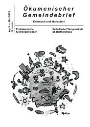 Ökumenischer Gemeindebrief - Kirchen in und um Kaiserslautern