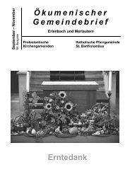 Ökumenischer Gemeindebrief Erntedank - Kirchen in und um ...