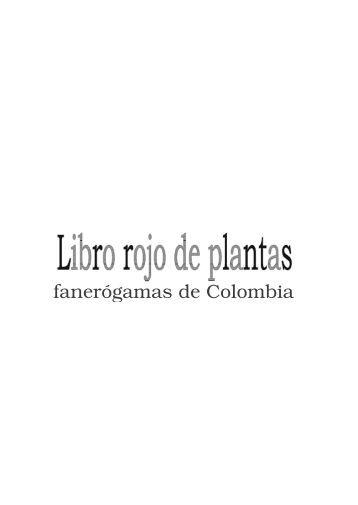 fanerógamas de Colombia - Instituto de Investigación de Recursos ...
