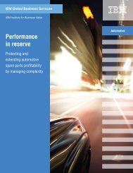 Performance in reserve: Protecting and extending automotive ... - IBM