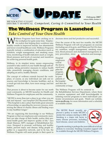 Wellness Program Launched - Mendocino Coast District Hospital