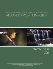 Informe Anual 2004 ALEXANDER VON HUMBOLDT