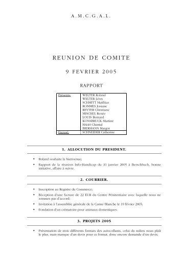 REUNION DE COMITE