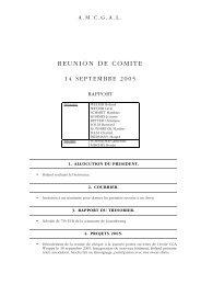 REUNION DE COMITE - Chiens Guides d'Aveugles au Luxembourg