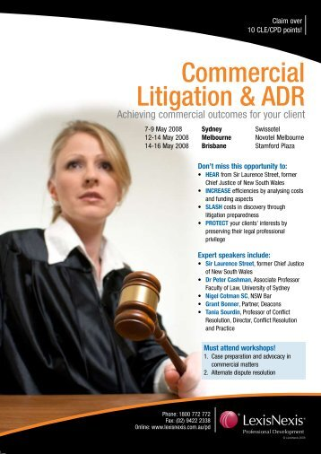 Commercial Litigation & ADR - Victorian Bar