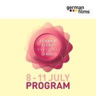 PROGRAM 8 – 11 JULY - german films