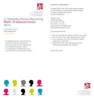 Flyer Mehr Professorinnen 2011.pdf - bei der Landeskonferenz der ...