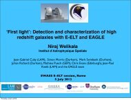 ʻFirst light': Detection and characterization of high redshift galaxies ...
