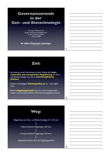 ppt Lohninger - Technologierecht - Universität Wien